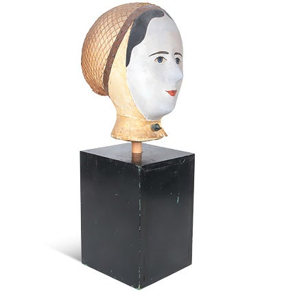 Louis Danjard Wig Stand, 19th Century