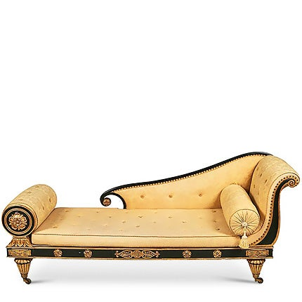 Empire Ebonized and Gilt Sofa, Early 19th Century