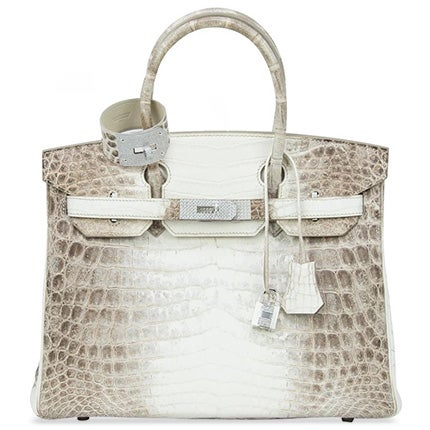 Hermès Diamond-Encrusted Himalaya Birkin Bag and Matching Bracelet