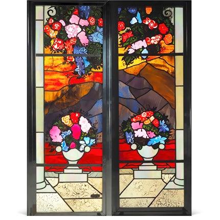 Robert Pinart and Denise Amses Glass Panels, 1984