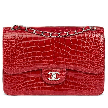 Chanel Alligator Jumbo Classic Bag, 2013