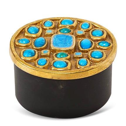 Ceramic Jewel Box Attributed to François Lembo, 20th Century