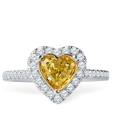 Yellow Diamond Engagement Ring, 2018