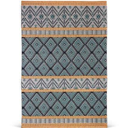 Bunter Teppich aus Handgetufteter Sardischer Wolle