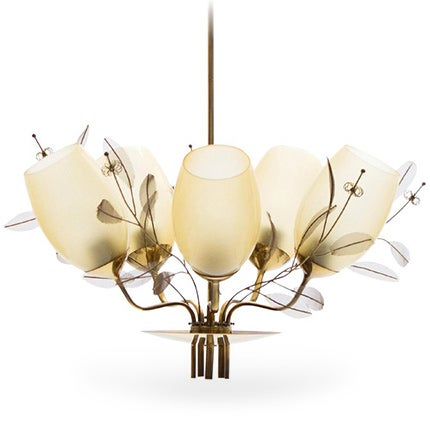 Paavo Tynell for Taito Oy Chandelier, ca. 1950