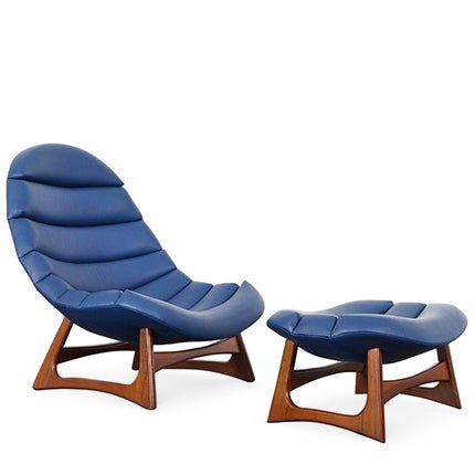 Adrian Pearsall Lounge Chair and Ottoman, 1960s