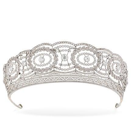 Historic Edwardian Prussian Royal Jeweler Diamond Platinum Convertible Tiara