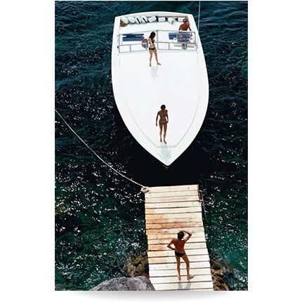 Slim Aarons, <I>Speedboat Landing</I>, 1973