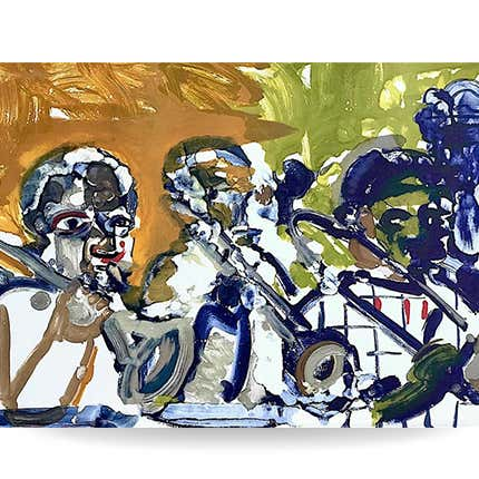 Romare Bearden, <i>Abstract Portrait, Jazz Music Hornplayers</I>, 1979
