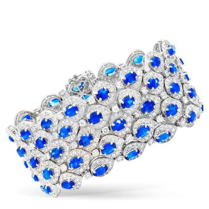 Ceylon Sapphire and Diamond Bracelet, 2019