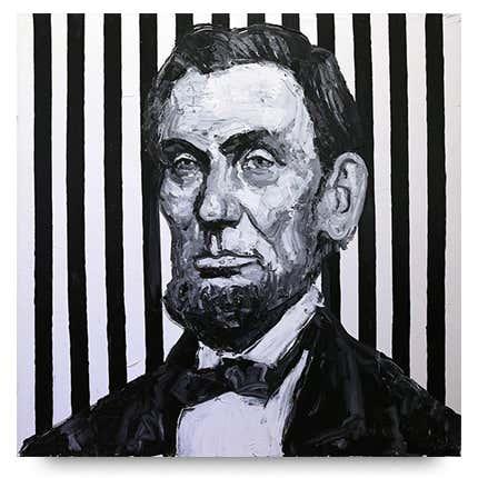 Hunt Slonem, <I>Pres. Lincoln</I>, 2019