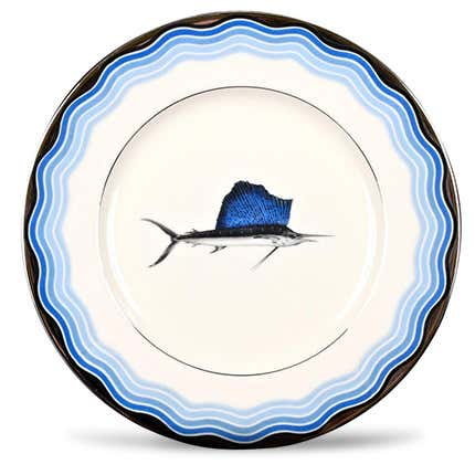 Set of Lenox Sailfish Plates, 1920s