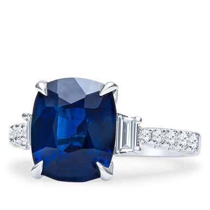 5.11 Ct Blue Sapphire Ring, 2019