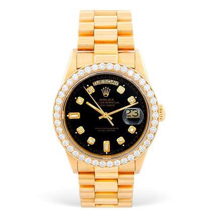 Rolex Men's 18k Gold Watch, 1980s