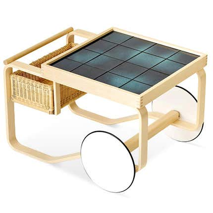 Artek and Heath Ceramics Tea Trolley, 2019