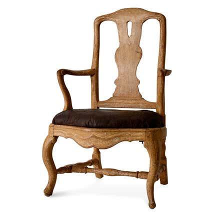 Swedish Rococo Armchair, 18th Century