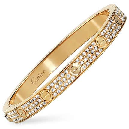 Cartier Gold & Diamond Love Bracelet, 21st Century