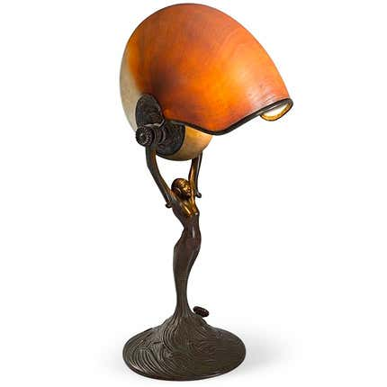 Tiffany Studios Nautilus Desk Lamp, ca. 1900