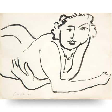 Henri Matisse, <i>Nu couché accoudé</i>, 1946