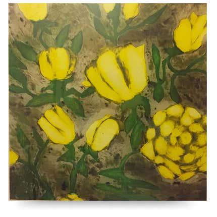Donald Sultan, <i>Yellow Roses</i>, 1992
