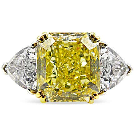 6–Carat Yellow Diamond Engagement Ring, ca. 2013