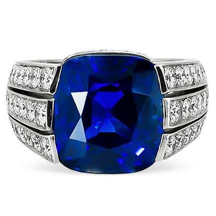 Cartier Paris 15–Carat Sapphire & Diamond Ring, 1960s