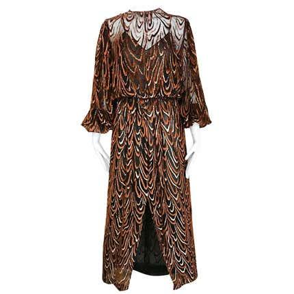Oscar de la Renta Silk Dress, 1980s