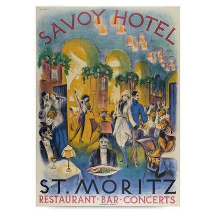 Karl Bickel, <i>Savoy Hotel St. Moritz</i>, 1918