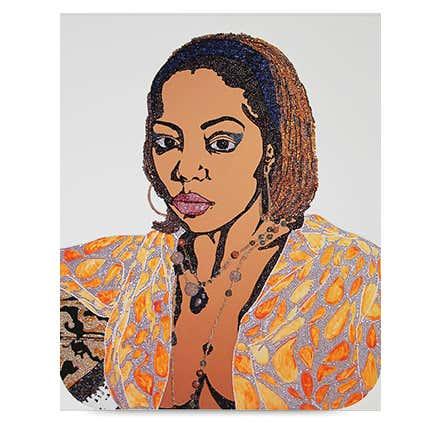 Mickalene Thomas, <i> Portrait of Lovely Six Foota # 1</i>, 2009