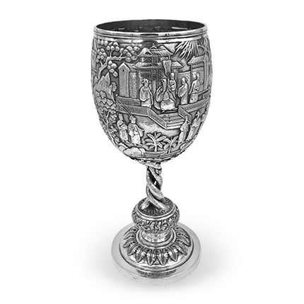 Luen Wo Silver Goblet, ca. 1875