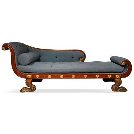 English Mahogany Daybed, ca. 1810