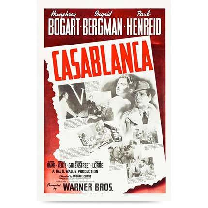 Poster, <i>Casablanca</i>, 1942