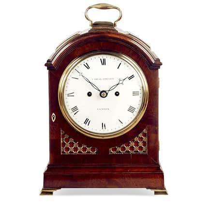 Cade & Robinson Mahogany Clock, 1800