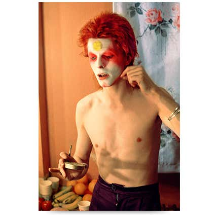 Mick Rock, <i>Bowie Pulling off Mask</i>, 1973