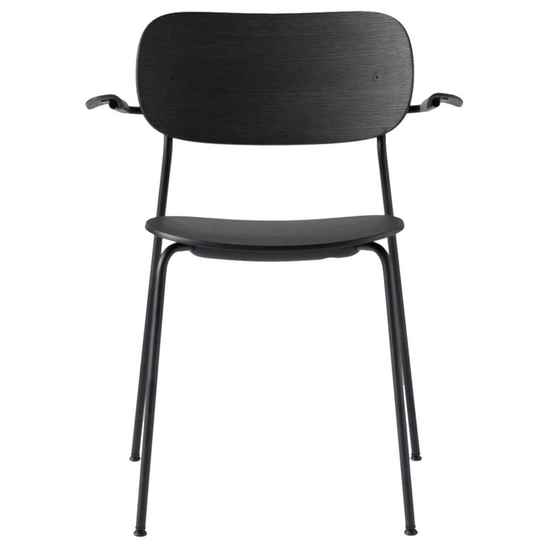 Co Chair, Dining Chair Made of Black Oak and with an Armrest For Sale
