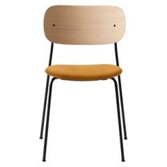 Co Chair, Dining Chair, Natural Oak Frame with Orange Velvet Upholstery