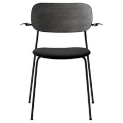 Co Chair, with Armrest, Black Icon '0842' Seat, Black Oak Back and Arms
