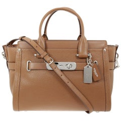 Coach 34408.SVSD Swagger Pebbled Leather Satchel Ladies Bag