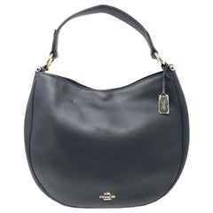 Coach 36026 Nomad Hobo In Glovetan Leather Navy Blue Ladies Bag