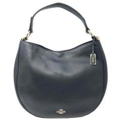 Coach 36026 Nomad Hobo In Glovetan Leather Navy Blue Ladies Bag