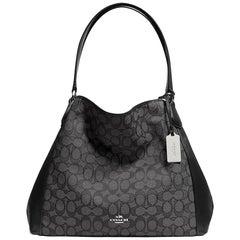 Coach 36466 Signature Edie 31 Black Ladies Shoulder Bag Zoho
