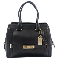 Coach 37182 Black Calf Leather Swagger Frame Satchel Ladies Bag