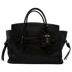 Coach Black Leather Handbag with Graphite Hardware