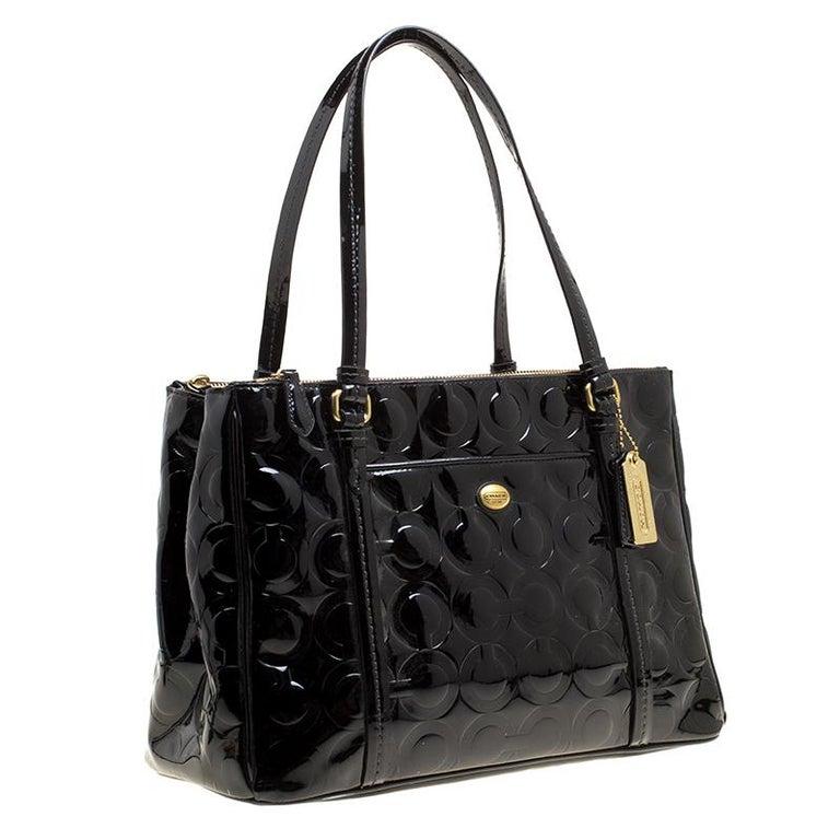 Black Patent Leather Peyton Op Art