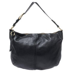 Coach Black Soft Leather Hobo