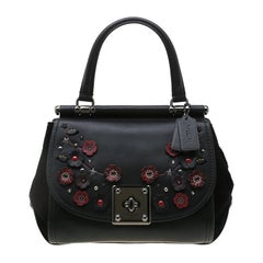 Coach Black Willow Floral Leather Drifter Satchel