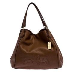 Coach Brown Leather Edie Shoulder Bag