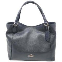 Coach Edie 35983 Navy Pebble Leather Ladies Shoulder Bag