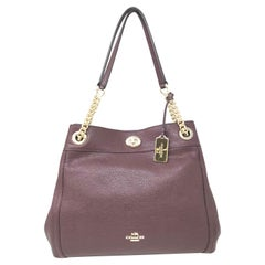 Coach Edie 36855 Turnlock Pebble Leather Ladies Shoulder Bag