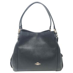 Coach Edie Shoulder Bag 31 57125 Pebble Black Ladies Shoulder Bag